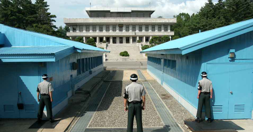 South Korean soldier on DMZ (Photo-Wikimedia Commons)